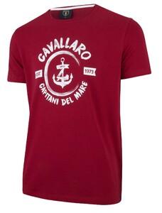 Cavallaro Napoli Capitano Tee Rood