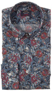 Paul & Shark Fancy Paisley Navy-Rood