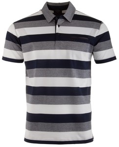 Paul & Shark Blue-Grey Barstripe Wit-Navy