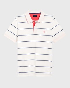 Gant 3 Color Piqué Short Sleeve Eggshell