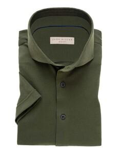 John Miller Slim Short Sleeve Midden Groen