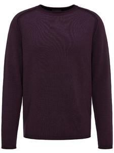 Fynch-Hatton Ronde Hals Fancy Garment Dyed Acai