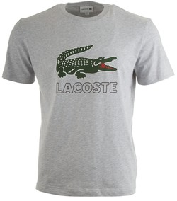 Lacoste Crocodile T-Shirt Silver