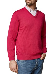 Maerz V-Neck Merino Superwash Pink Duplex