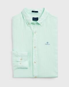 Gant Slim Linnen Overhemd Bay Green