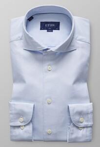 Eton Uni Textured Twill Licht Blauw