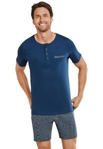 Schiesser Premium Inspiration Pyjama Donker Blauw