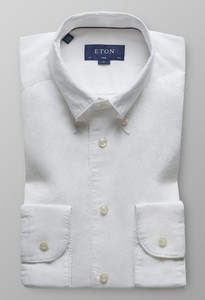 Eton Soft Cotton Linen Shirt Wit