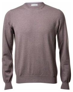Gran Sasso Merino Extrafine Crew Neck Fashion Hazel