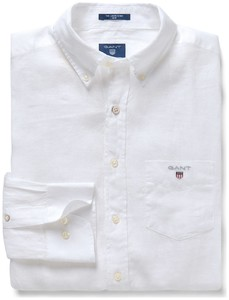 Gant The Slim Linen Shirt Wit