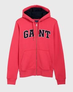 Gant Graphic Full Zip Hoodie Watermeloen Rood