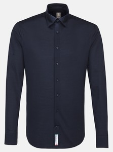 Jacques Britt Jersey Hidden Button Down Uni Navy