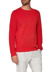 Maerz Uni Cotton Round Neck Just Red