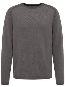Fynch-Hatton Ronde Hals Fancy Garment Dyed Ashgrey