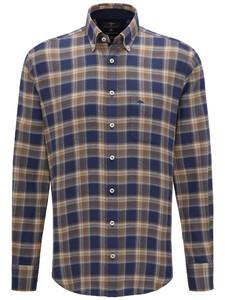 Fynch-Hatton Big Flannel Check Navy