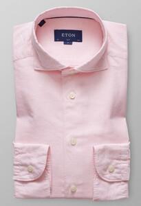Eton Slim Cotton Silk Zacht Roze Melange