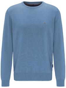 Fynch-Hatton Cotton Uni Round Neck Sky