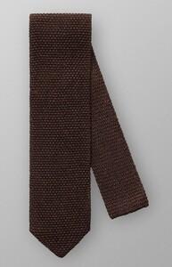 Eton Pointed Tip Knit Dark Brown Melange