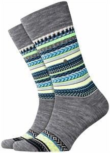 Burlington The X-Fair Isle Zwart
