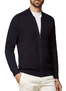 Maerz Merino Superwash Cardigan Navy