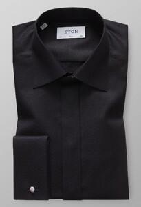 Eton Geometrical Jacquard Black