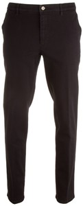 MENS Madison Modern-Fit Xtend Flat-Front Jeans Black