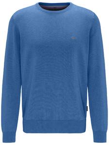 Fynch-Hatton Cotton Uni Round Neck Azure