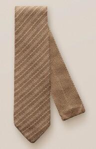 Eton Knitted Stripe Donker Bruin Melange