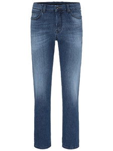 Fynch-Hatton Mombasa All-Season High Flex Denim Midden Blauw