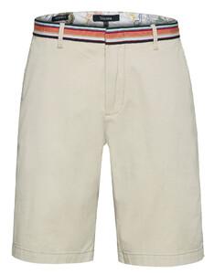 Gardeur Jasper Contrast Waistband Shorts Zand