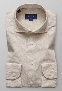 Eton Poplin Micro Paisley Off White-Bruin