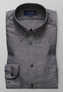 Eton Cotton & Hemp Antraciet Melange