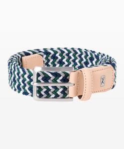 Brax Muticolor Woven Belt Navy White