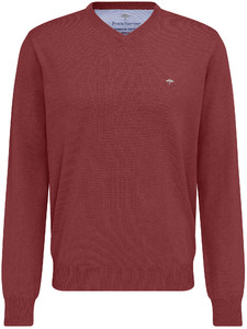 Fynch-Hatton V-Neck Uni Cotton Rusty