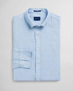 Gant Slim Linnen Button Down Capri Blue