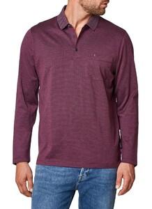 Maerz Cotton Long Sleeve Polo Grape Twist