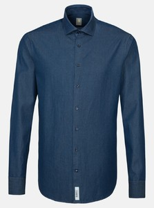 Jacques Britt Denim Smart Casual Donker Blauw Melange