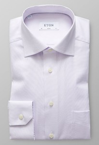 Eton Signature Twill Micro Weave Paars Melange