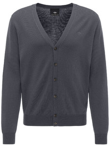 Fynch-Hatton Cardigan Button Wool Anthra