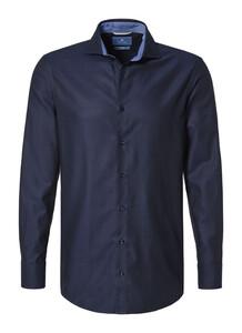 Pierre Cardin Le Bleu Slim Fit Donker Blauw Melange