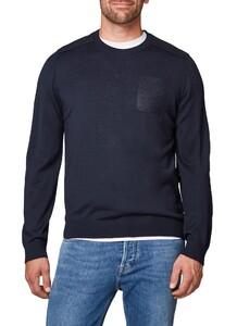 Maerz Patch Sweater Navy
