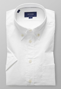 Eton Short Sleeve Natural Stretch Wit