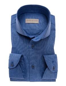 John Miller Uni Cutaway Cotton Midden Blauw