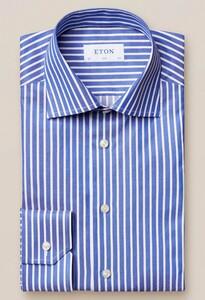Eton Bengal Stripe Signature Twill Blauw