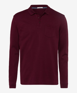Brax Philip Pima Cotton Port Red