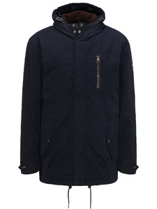 Fynch-Hatton Hooded Parka Shearling Lock Navy