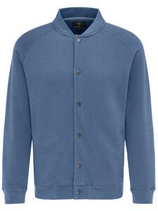 Fynch-Hatton Cardigan Button College Kraag Blauw