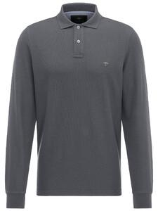 Fynch-Hatton Uni Polo Longsleeve Asphalt