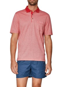 Maerz Polo Subtle Herringbone Peaches