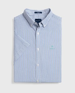 Gant Gant Tech Prep Seersucker Stripe Short Sleeve Poseidon Blue